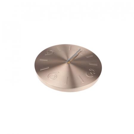 Ceas de perete din Aluminiu, culoare Bronz cu limbi Argintii, D35 cm2