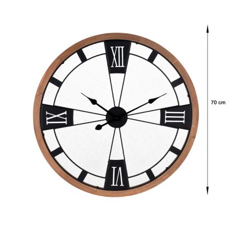Ceas perete din metal si lemn, D 70 cm [1]