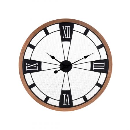 Ceas perete din metal si lemn, D 70 cm [0]