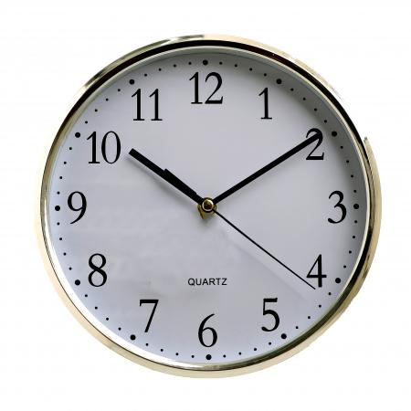 Ceas perete din plastic culoare argintie diametru 25 cm [7]