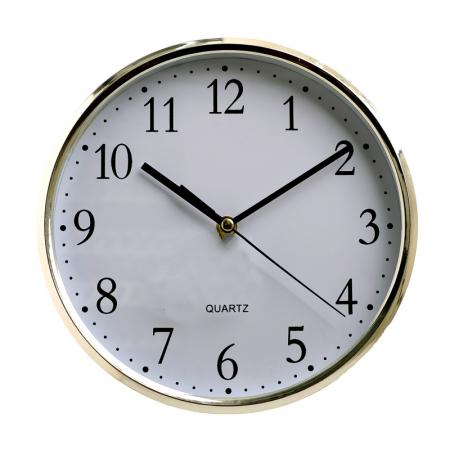 Ceas perete din plastic culoare argintie diametru 25 cm [1]