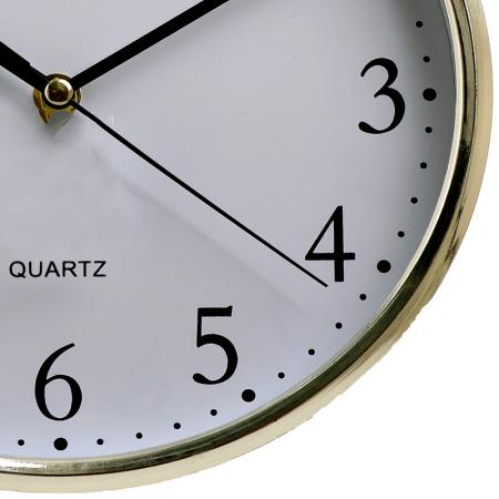 Ceas perete din plastic culoare argintie diametru 25 cm [4]