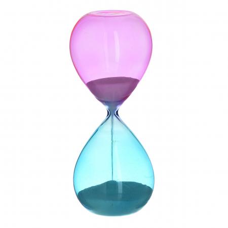 Clepsidra din sticla Albastru si Roz, 8x20cm0