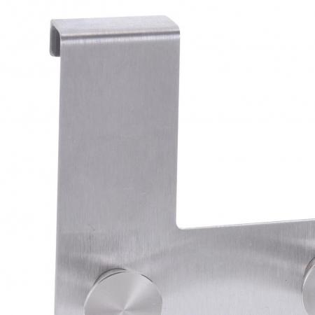 Cuier tip Umeras, pentru usa, cu 6 carlige, 39.5cm x 11cm x 3.5cm, Inox4