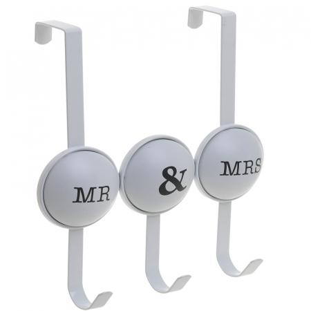 Cuier metal cu 3 carlige pentru usa 26X4X28 cm Mr&Mrs5
