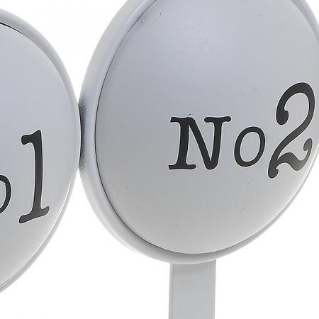 Cuier metal cu 3 carlige pentru usa 26X4X28 cm No 1 2 3 [4]