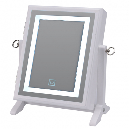 Cutie bijuterii din MDFcu oglinda si 40 LED, culoare alba, dimensiuni 32x23x6.5 cm0