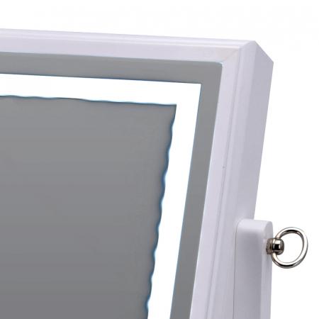 Cutie bijuterii din MDFcu oglinda si 40 LED, culoare alba, dimensiuni 32x23x6.5 cm4