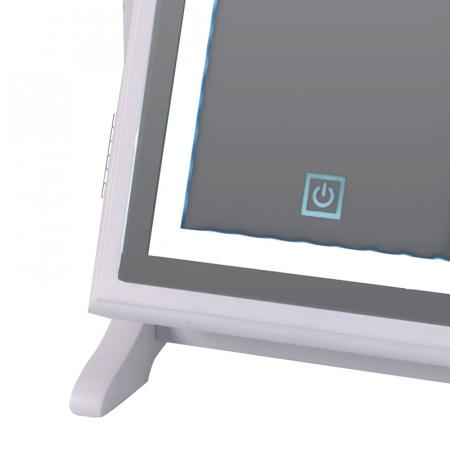 Cutie bijuterii din MDFcu oglinda si 40 LED, culoare alba, dimensiuni 32x23x6.5 cm6