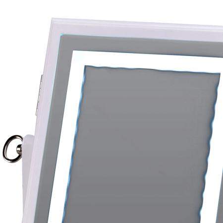 Cutie bijuterii din MDFcu oglinda si 40 LED, culoare alba, dimensiuni 32x23x6.5 cm3