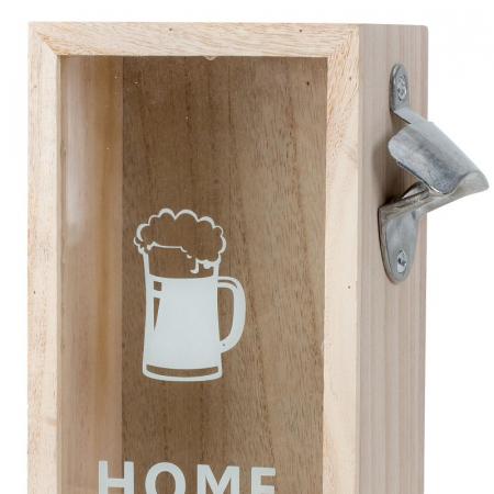 Cutie decorativa din lemn, pentru capace de bere cu deschizator, 30x12.5 cm [3]