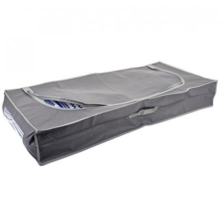 Cutie depozitare, gri inchis, cu fermoar, 105x45x16 cm [0]