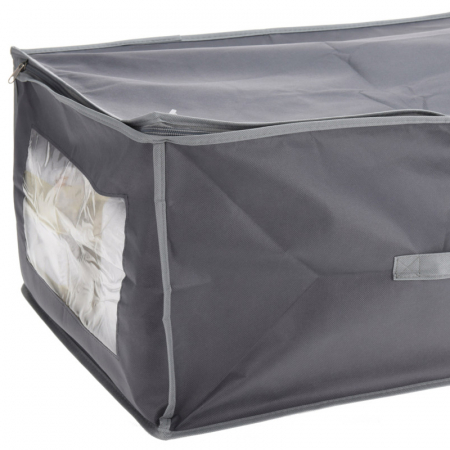Cutie depozitare paturi  60x45x30 cm culoare gri inchis [1]