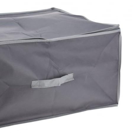 Cutie depozitare paturi  60x45x30 cm culoare gri inchis2