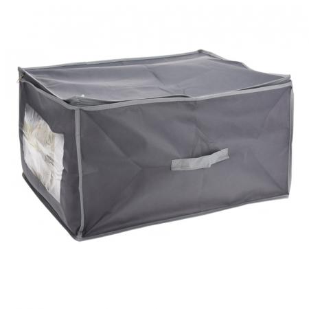 Cutie depozitare paturi  60x45x30 cm culoare gri inchis0