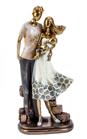 Decoratiune ceramica, model cuplu cu bebelus  33cm x15 cm [0]