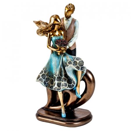 Decoratiune ceramica, model cuplu cu inima  27x12,5 cm [4]