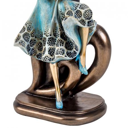 Decoratiune ceramica, model cuplu cu inima  27x12,5 cm [3]