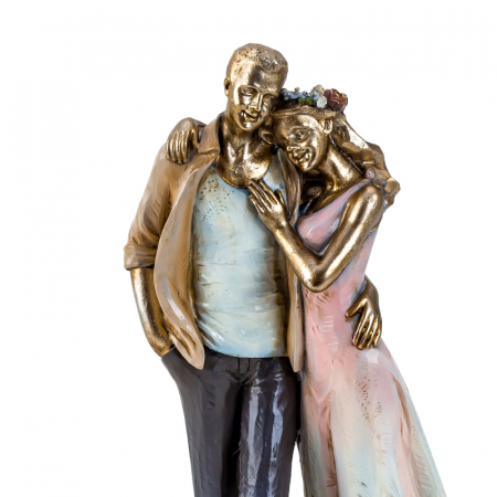 Decoratiune ceramica, model cuplu indragostit, 27x12 cm2
