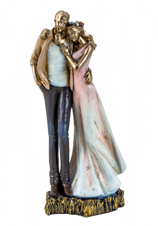 Decoratiune ceramica, model cuplu indragostit, 27x12 cm [0]