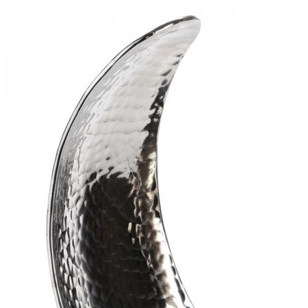 Decoratiune din aluminiu pe baza de lemn, dimensiune  25.5X27X10.5 cm3
