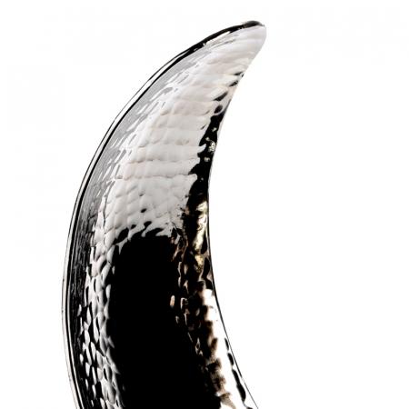 Decoratiune din aluminiu pe baza de lemn, dimensiune  25.5X27X10.5 cm4