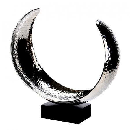 Decoratiune din aluminiu pe baza de lemn, dimensiune  25.5X27X10.5 cm [1]