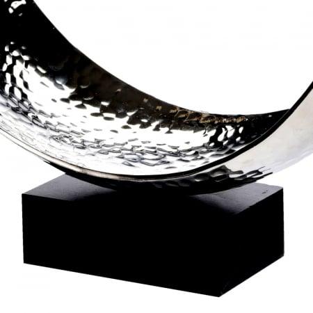 Decoratiune din aluminiu pe baza de lemn, dimensiune  25.5X27X10.5 cm [5]