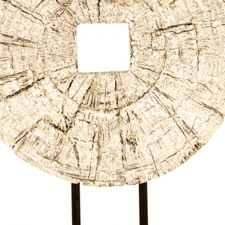 Decoratiune disc argintiu pe suport, diametru 33 cm [3]