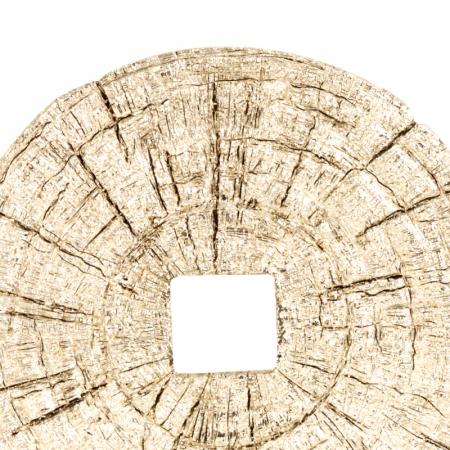 Decoratiune disc argintiu pe suport, diametru 33 cm [5]