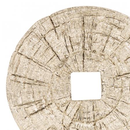 Decoratiune disc argintiu pe suport, diametru 33 cm [2]