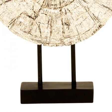 Decoratiune disc argintiu pe suport, diametru 33 cm [4]