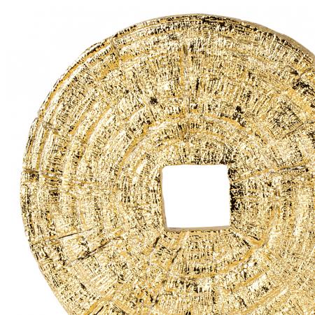 Decoratiune disc auriu pe suport, diametru 33 cm [2]