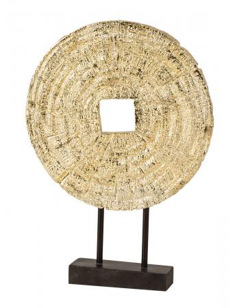 Decoratiune disc auriu pe suport, diametru 33 cm [0]