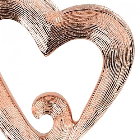Decoratiune in forma de inima, culoare Cupru, pe un piedestal din lemn, 26 cm [5]