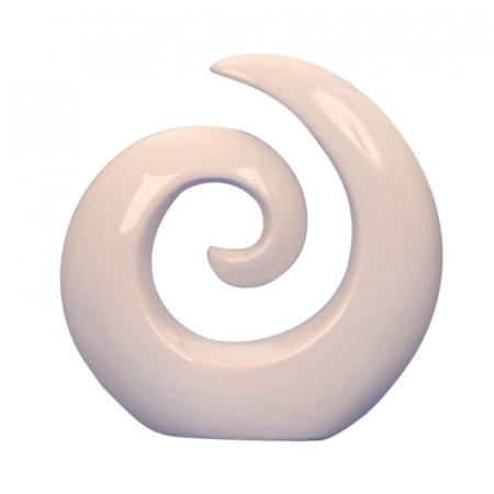 Decoratiune spirala 16 cm culoare alba0