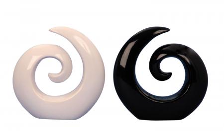 Decoratiune spirala 16 cm culoare alba4