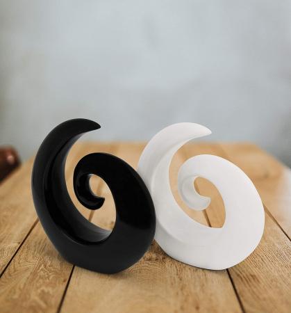 Decoratiune spirala 16 cm culoare alba6