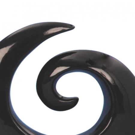Decoratiune spirala 16 cm culoare neagra4