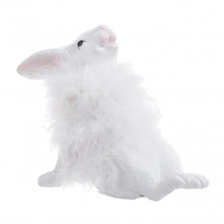 Decoratune iepure, cu blana Alba, 16x7x14 cm1