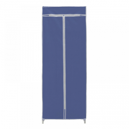Dulap textil pentru organizare haine culoare albastru 150x60X45 cm2