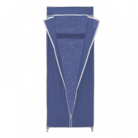 Dulap textil pentru organizare haine culoare albastru 150x60X45 cm3