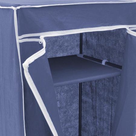 Dulap textil pentru organizare haine culoare albastru 150x60X45 cm4