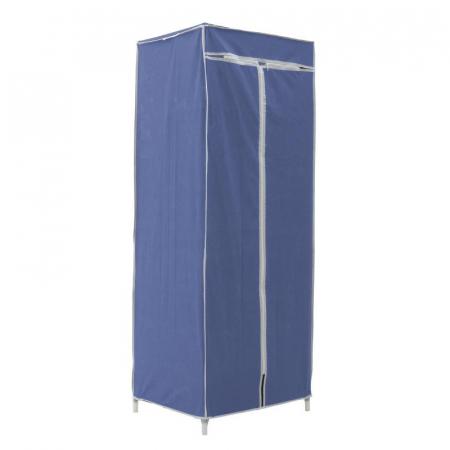 Dulap textil pentru organizare haine culoare albastru 150x60X45 cm0