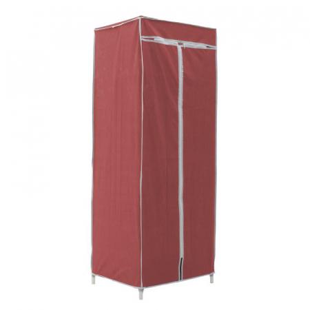 Dulap textil pentru organizare haine culoare visinie 150x60X45 cm0