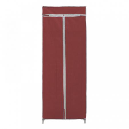 Dulap textil pentru organizare haine culoare visinie 150x60X45 cm2