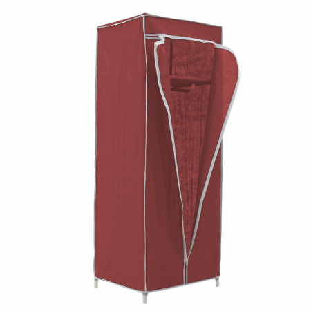 Dulap textil pentru organizare haine culoare visinie 150x60X45 cm1
