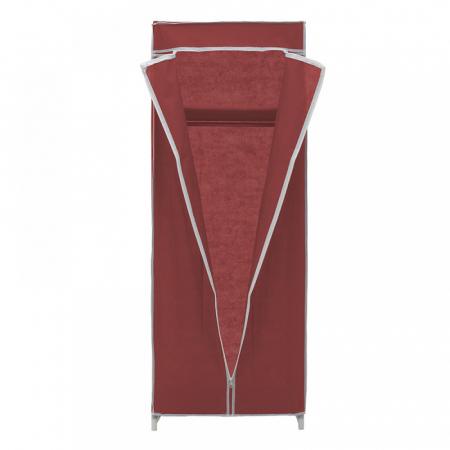 Dulap textil pentru organizare haine culoare visinie 150x60X45 cm3