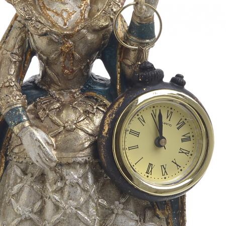 Figurina iepure, din polirezina cu ceas, 11x10x24 cm3