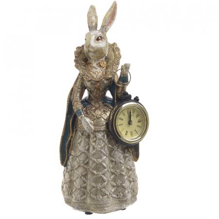 Figurina iepure, din polirezina cu ceas, 11x10x24 cm [5]